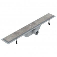 VOLLE Линейный трап 600мм, система сухой затвор, с решеткой под плитку (90-22-601)