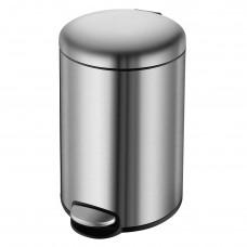 VOLLE Ведро мусорное округлое 5л, с педалью, матовая сталь (14-05-53ST)