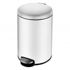 VOLLE Ведро мусорное округлое 5л, с педалью, белое (14-05-53W)