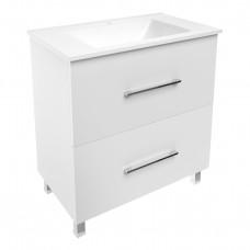 VOLLE NEMO комплект мебели 80см белый: тумба напольная, 2 ящика + умывальник  (15-17-81)