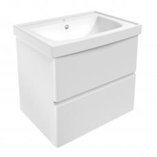 VOLLE OLIVA комплект мебели 65см белый: тумба подвесная, 2 ящика + умывальник (15-45-61)