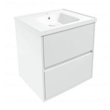 VOLLE TEO комплект мебели 65см белый: тумба подвесная, 2 ящика + умывальник (15-88-61)