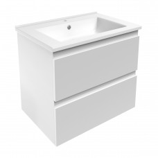 VOLLE LEON комплект мебели 65см белый: тумба подвесная, 2 ящика + умывальник (15-11-65)