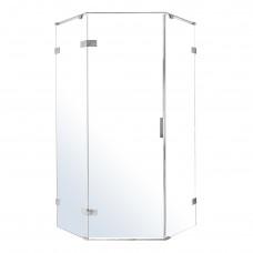 VOLLE NEMO душевая кабина 5-ти угольная 90*90*195см, левая, распашная, прозрачное стекло 8мм, зеркал
