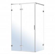 VOLLE NEMO душевая кабина 120*80*195см, левая, распашная, прозрачное стекло 8мм, зеркальный хром 10-
