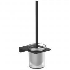 VOLLE DE LA NOCHE ершик туалетный, крепление к стене, черный (10-40-0050-black)
