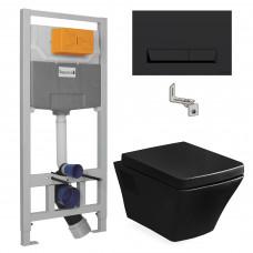 VOLLE Комплект: TEO black унитаз 53*35,5*40см сиденье slow-closing+IMPRESE(13-88-422black+i8122B)