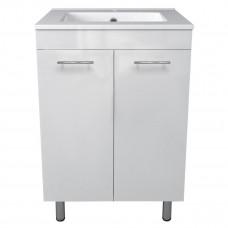 VOLLE MARO комплект мебели 60см белый: тумба напольная, 2 дверцы + умывальник (15-52-61)