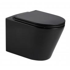 VOLLE NEMO BLACK Rimless унитаз 51,5*35,5*36,5см подвесной, матовый, сиденье твердое 13-17-316 Blacк