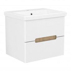 VOLLE PUERTA комплект мебели 60см белый: тумба подвесная, 2 ящика + умывальник накладной арт 13-16-0