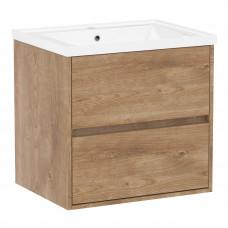VOLLE TEO комплект мебели 65см дуб готланд: тумба подвесная, 2 ящика + умывальник накладной арт 15-8