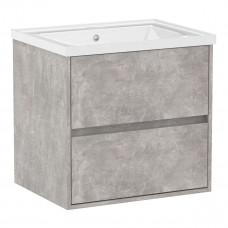 VOLLE TEO комплект мебели 65см бетон: тумба подвесная, 2 ящика + умывальник  (15-88-61C)
