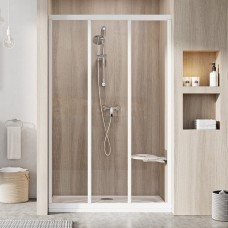 Душевые двери трехэлементные ASDP3-90 Transparent, (00V70102Z1) RAVAK