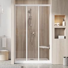 Душевые двери трехэлементные ASDP3-130 Transparent, (00VJ0102Z1) RAVAK